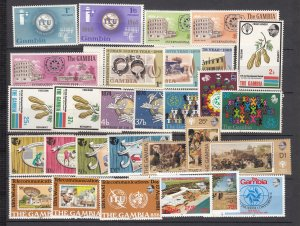 J28477, all dif gambia mnh sets good value#