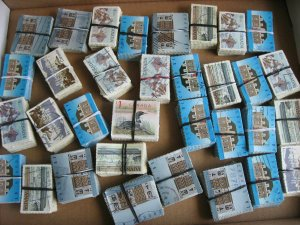 Canada used stock of 3,300 $1 stamps in bundles, nice group, check them out!