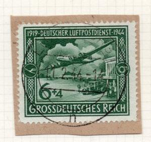 1944-45 GERMANY used in LUXEMBOURG Fine Used 6p. Postmark Piece 241798