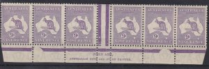 K439) Australia 1932 9d Violet C of A Wmk Kangaroo Die IIB Plate3 1st state