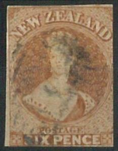 70478 -  NEW ZEALAND - STAMP: Stanley Gibbons # 12 with 3 margins -  Finely USED