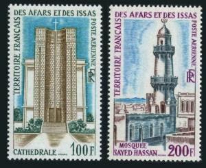 Afars & Issas C54-C55,MNH.Michel 25,27. Cathedral,Sayed Hassan Mosque,1969.