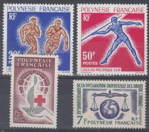 French Polynesia Scott 203-206 Mint hinged (Catalog Value $55.50)