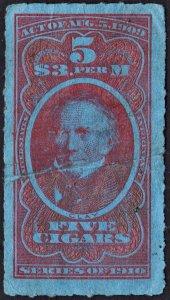 TC171b 5 Cigars Tax Stamp (1910) Used