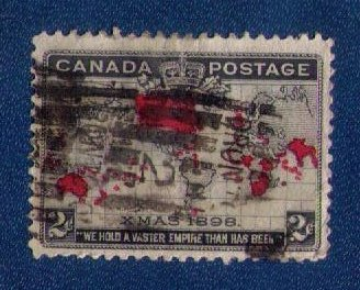Canada Sc 86 Used Merry Christmas Map Of British Commonwealths F-VF