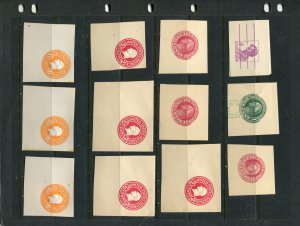 Misc cut squares includes U529 15 total, Duplication Stock page not incl