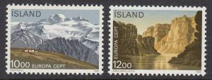 Iceland 622-3 National Parks mnh