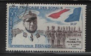 SOMALI COAST, C22, USED, 1960, ALBERT BERNARD, FLAG & TROOPS