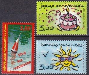 France #2721-3  MNH CV $3.75 (Z7898)
