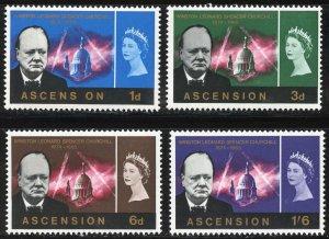 Ascension Scott 96-99 MNHOG - 1966 Churchill Memorial Set - SCV $10.00