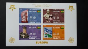 50th anniversary of EUROPA stamps - Sao Tome and Principe 1x Bl imperf ** MNH