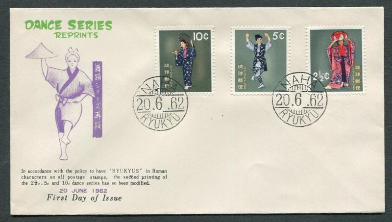 Ryukyu Islands 82-4 FDC w/cachet. NO per item S/H fees