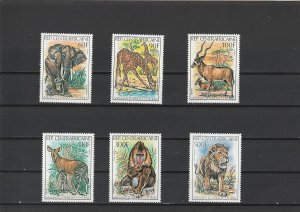Central African Republic  Scott#  502-5, C263-4  MNH  (1982 Animals)
