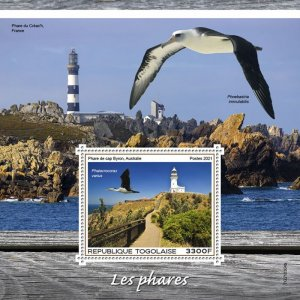 TOGO - 2021 - Lighthouses - Perf Souv Sheet - Mint Never Hinged