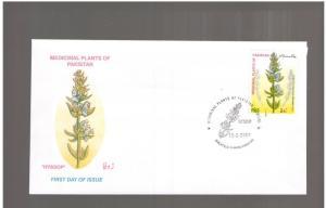 PAKISTAN: Sc. 985 /**MEDICINAL PLANT-HYSOOP**/  FDC-GOOD CONDITION