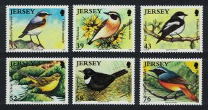 Jersey Wheatear Ouzel Wagtail Redstart Migrating Birds 6v SG#1400-1405