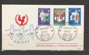 Belgium 1960 Childens fund FDC, Illus, 3 vals only SG 1751/3/4