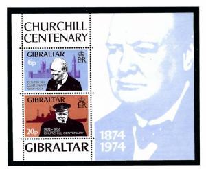 Gibraltar 317a MNH 1974 Winston Churchill S/S