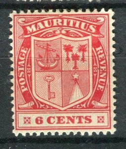 MAURITIUS; 1910 early Ed VII issue Mint hinged 6c. value