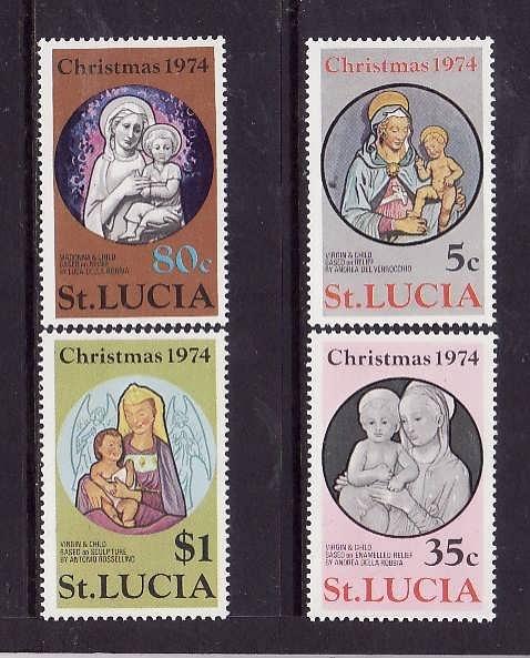 St. Lucia MNH 363-6 Christmas 1974