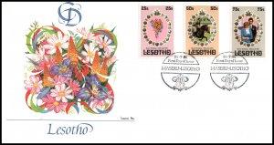 Lesotho 335-337 Royal Wedding Fleetwood U/A FDC