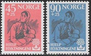 Norway B64-B65 MNH - World Refugee Year