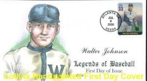 COLLINS HAND PAINTED 3408 Baseball Walter Johnson