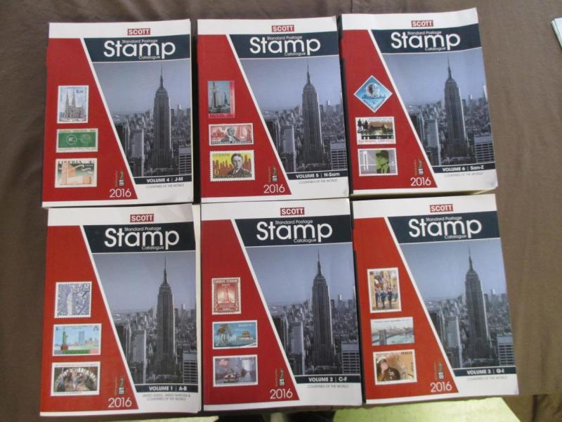 2016 Full 6 Volume Set Scott Stamp Catalogs -Very Good Or Better Condition (Y92)