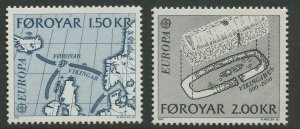 STAMP STATION PERTH Faroe Is. #81-82 Pictorial Definitive Issue MNH 1982 CV$1.24