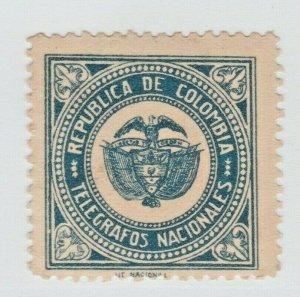 Columbia Telegraph envelope seal fiscal revenue Stamp 5-1-21 -no gum- extra nice