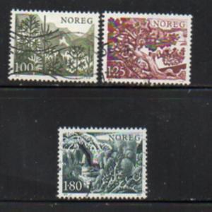 Norway Sc  695-7 1977 Trees stamp set used