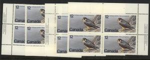 Canada - 1978 12c Peregrine Falcon Blocks VF-NH #752