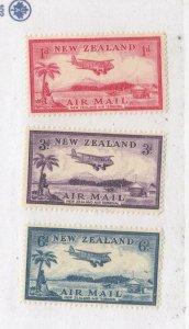 NEW ZEALAND # C6-C8 VF-MH AIRMAILS CAT VALUE $18++