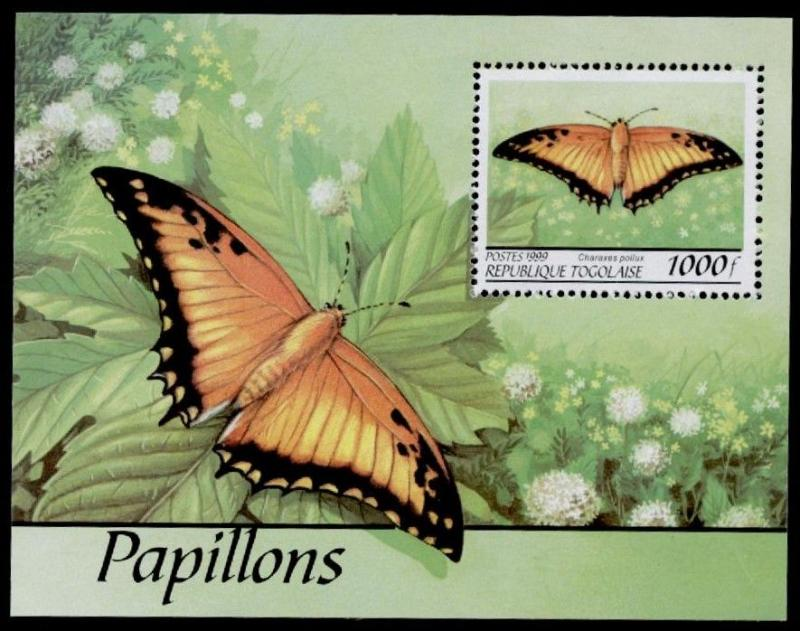 Togo 1861h MNH Butterfly, Flowers