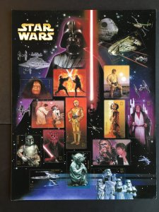 2007 sheet Star Wars 30th Anniversary - 15 stamps , Sc# 4143