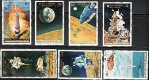 Guinea 541a-547 - Cto - Apollo 11 Moon Mission (1969) (cv $3.60)