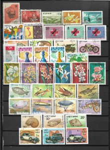 COLLECTION LOT OF 39 VIET NAM STAMPS 1963+