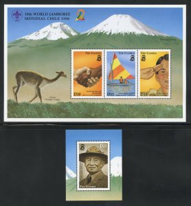 Gambia 2072-73 MNH Scout World Jamboree Souvenir Sheets 1998