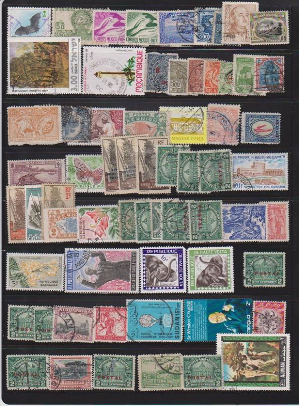 LOT OF STAMPS OF THE WORLD USED (64) LOT#451