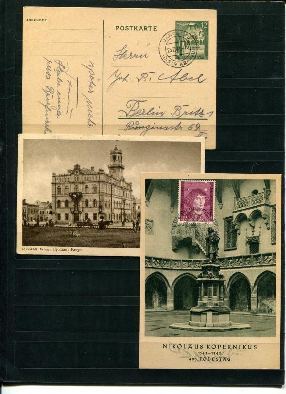 Germany Generalgouvernements interesting lot of commem. and post cards