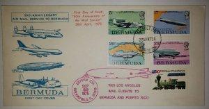 O) 1975 BERMUDA, AIRMAIL SERVICE, AIRSHIP, BRITISH CAVALIER FLYING, CONSTELL