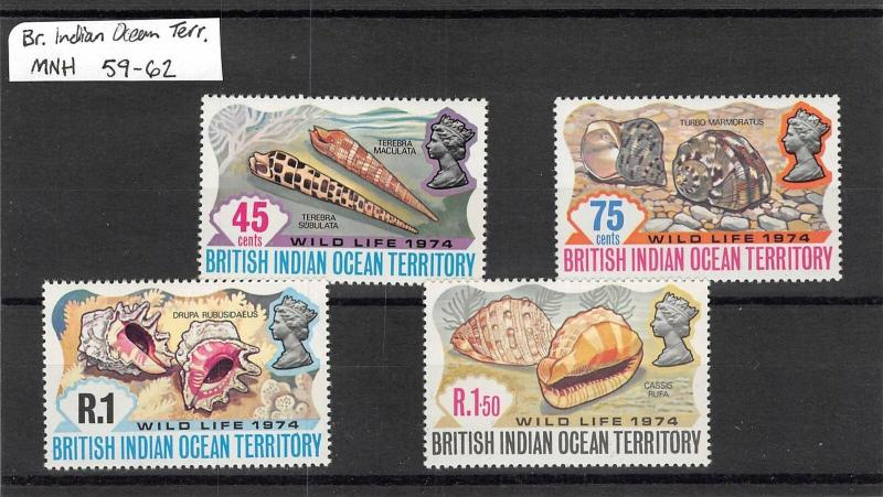 Lot of 40 British Indian Ocean Territory MNH Mint Stamps Range 16-89 #139826 R