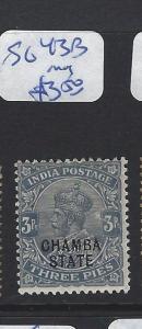 INDIA CHAMBA  (P2807B)    KGV 3P  SG 43B   MOG