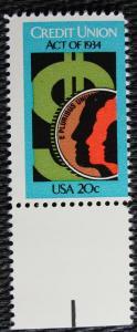 US #2075 MNH Single, Credit Union Act, SCV $.40 L10