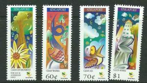 SINGAPORE SG904/7 1997 MINISTRY OF THE ENVIRONMENT MNH