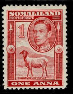 SOMALILAND PROTECTORATE GVI SG94, 1a scarlet, M MINT.