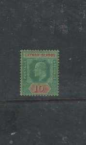 CAYMAN ISLANDS  (P2711B) KE 10/-  SG 34  MOG, SL TONE, ADDED PHOTOS