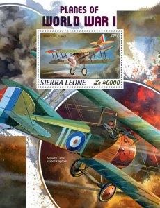 Sierra Leone Military Aviation Stamps 2018 MNH WWI WW1 Planes World War I 1v S/S