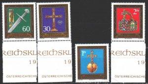 Liechtenstein. 1975. 625-28. Historical artifacts, sword, attributes of power...