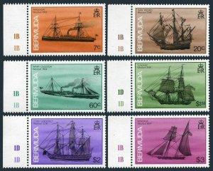 Bermuda 484-488-492-494-495-496,MNH. Shipwrecks,1986.